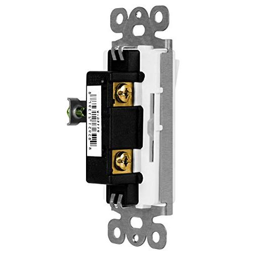ENERLITES Decorator Switch, 15A Pole, Screw, Listed,