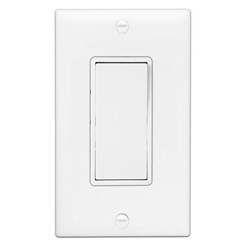 ENERLITES Way Rocker Light Switch, 120V/277V, Wire, Screw, Residential/Commercial, UL 93150-W,