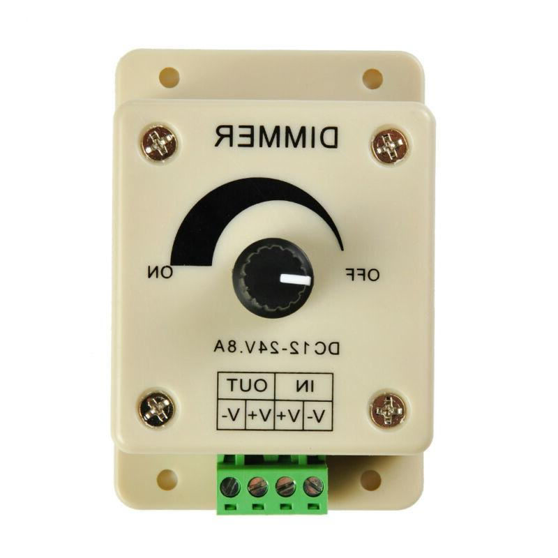 Manual Dimmer Switch for LED Strip Light, 12V 8A Mountable w
