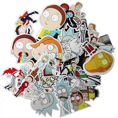drama rick morty stickers decal