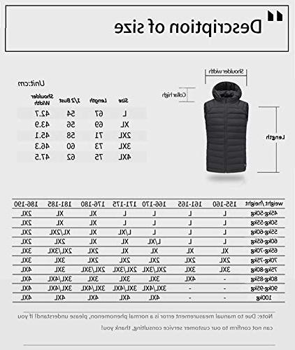 Tomorrow Sun Electric USB Warm Gilet Windproof Charging with Power Switch for Outdoor Skiing Hiking Black,L