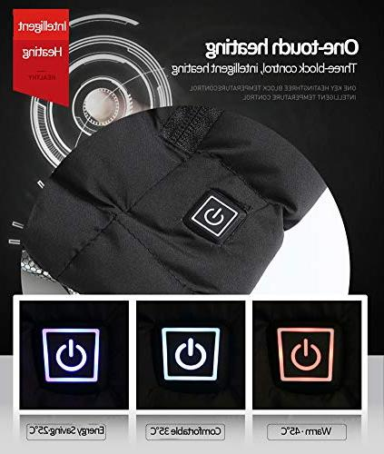 Tomorrow Shine Electric USB Heated Warm Vest Gilet Windproof Charging Clothing with Switch for Outdoor Riding Hiking Black,L