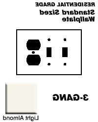 Leviton Electrical Wall Plate, Combination, 2Duplex 1Toggle,
