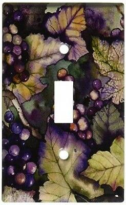 Art Plates - Grapes and Leaves Switch Plate - Single Toggle