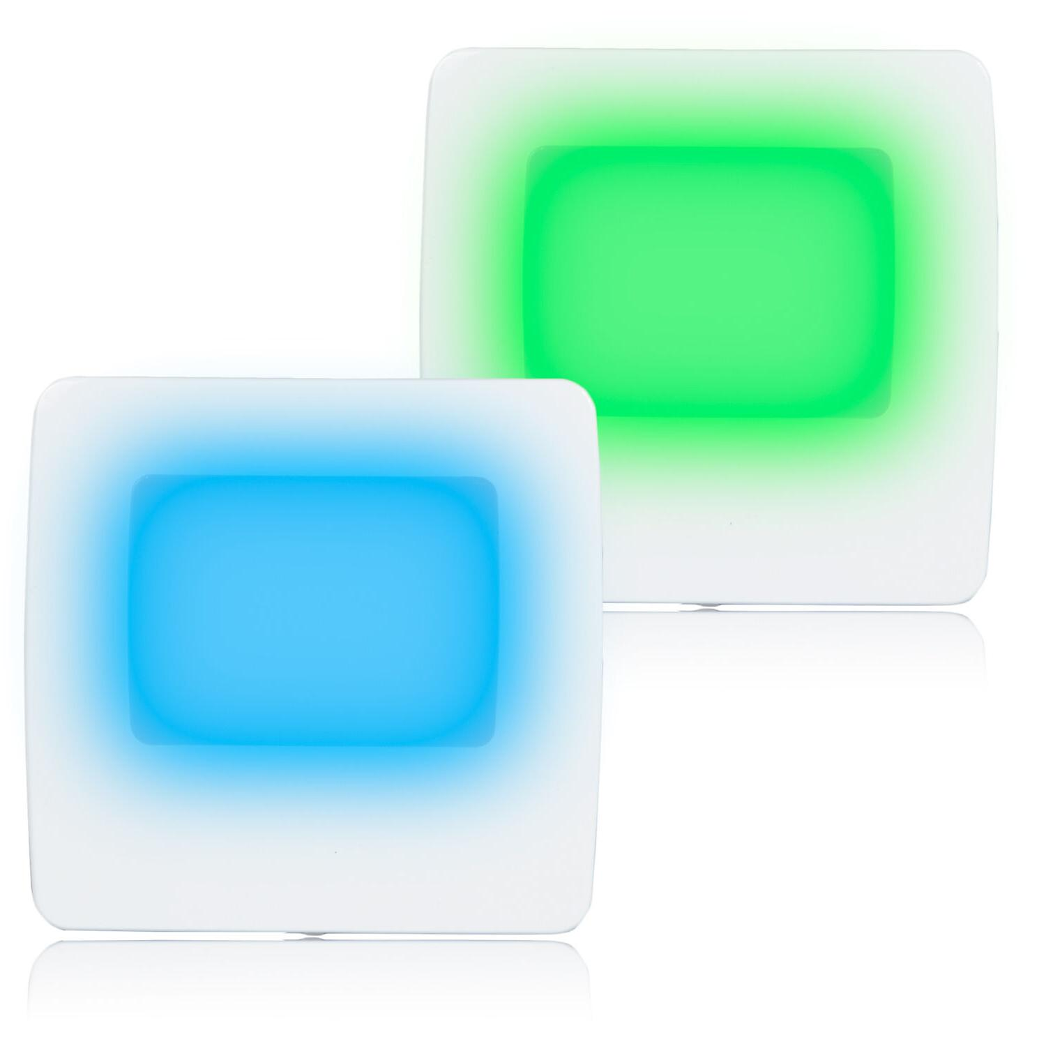 Maxxima Green / Blue LED Night Light with Switch