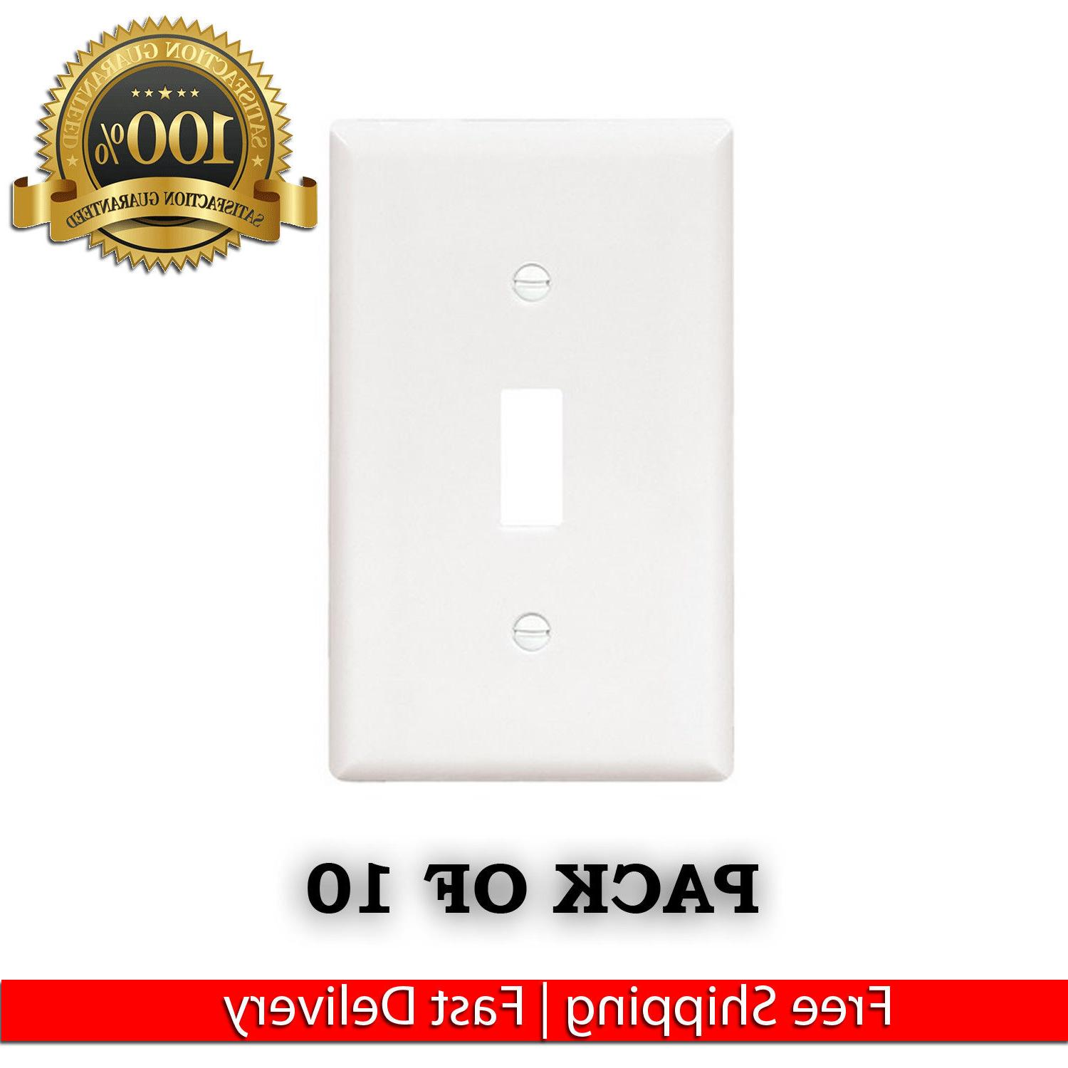 NEW HOME WHITE SINGLE TOGGLE SWITCH WALL PLATES COVER LOT LI