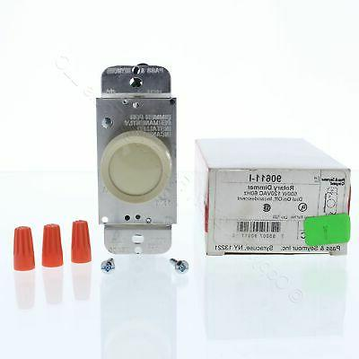Pass & Seymour Ivory Rotary ON/OFF Light Dimmer Switch Singl