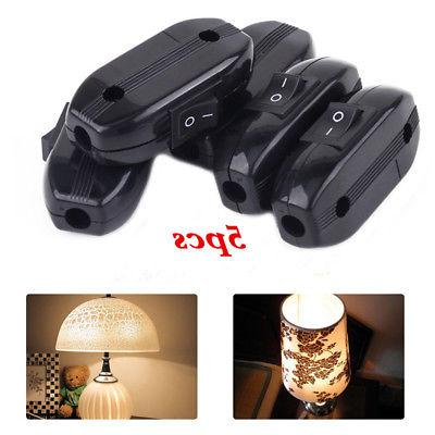 5x ON/OFF Lamp Light In Line Cord Rocker Toggle Power Switch