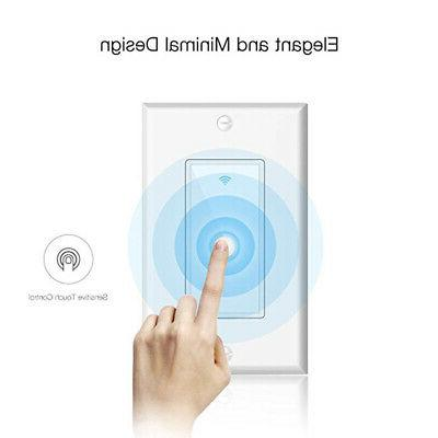 LED Wall Switch For Alexa Google Home App US