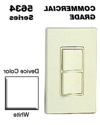 Leviton Light Switch, Decora Combination Switch, Double Rock