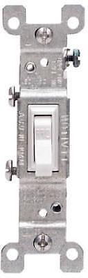 Leviton Light Switch, Grounding Toggle Switch, SinglePole Wh