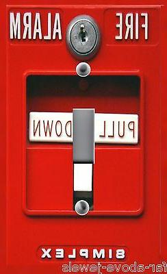 Light Switch Plate & Outlet Covers RED FIRE ALARM Switchplat