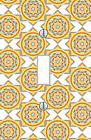 Light Switch plate zen doodle yellow pattern living room Wal