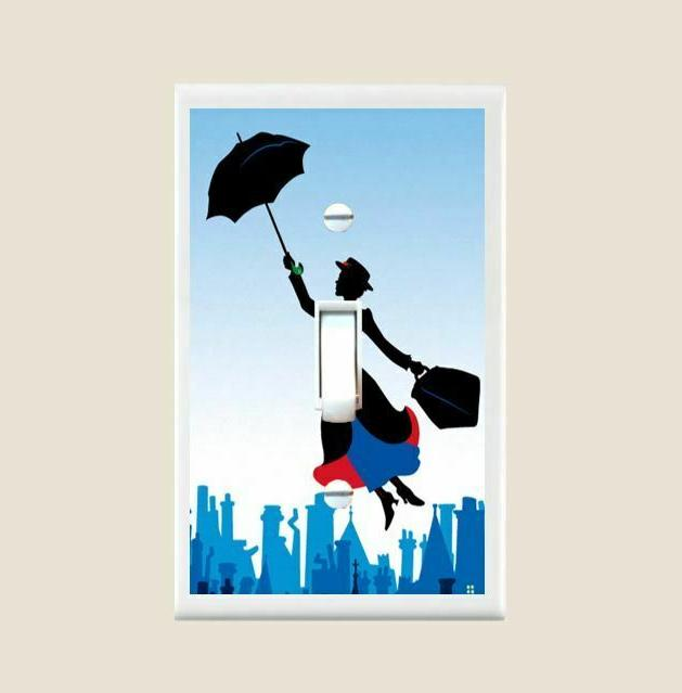 mary poppins light switch plate cover bedroom