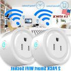 2 Pack Mini Remote Control Timer Switch WiFi Smart Power Soc
