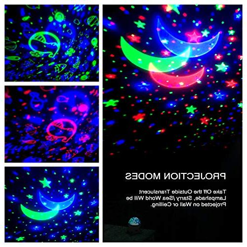 Star Night Projector for Kids and Remote Light Rotating Romantic Night Lamp for