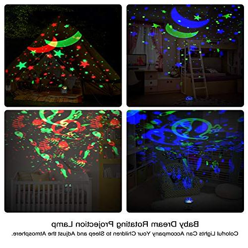 Star Night Projector for Kids with and Remote Light 360 Rotating 8 Colorful Lights Romantic Lighting for