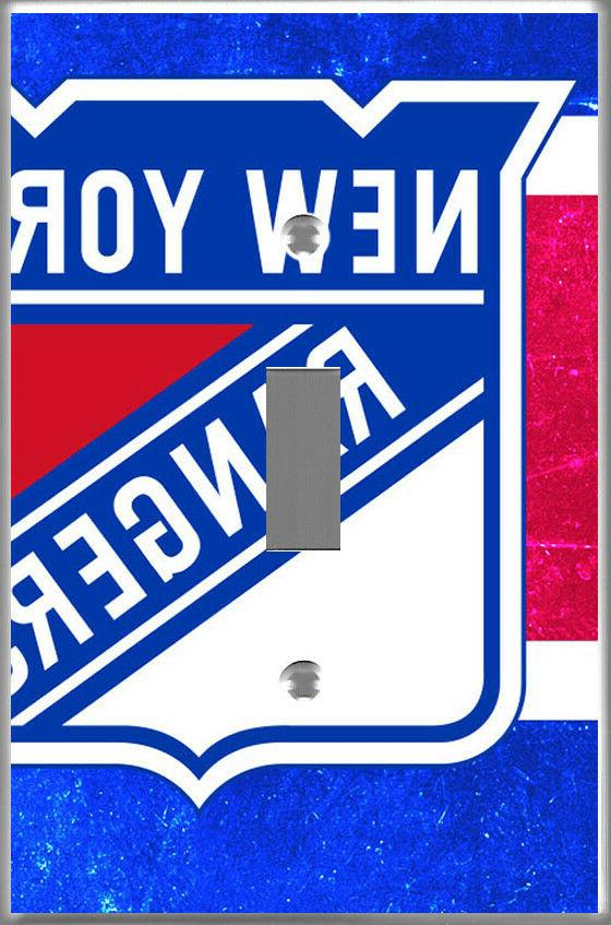 NHL New York Rangers Hockey light switch cover room wall dec