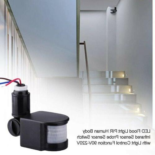 Outdoor LED Infrared Sensor Switch Wall Light 180°
