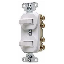 P & S 693-WG Double Three-Way Combination Switch 15 Amps, 12