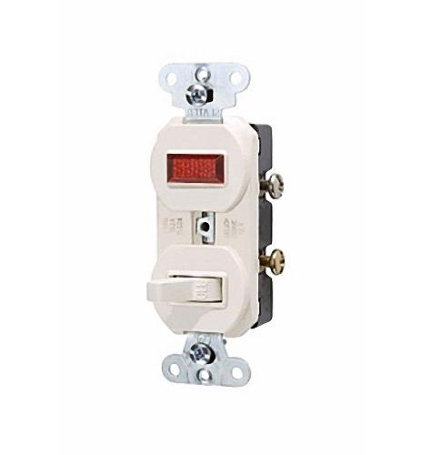 P&S Light Almond Commercial Toggle Wall Switch 15A with Pilo