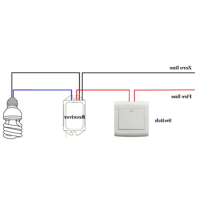 Wireless Remote Light Controller Lamp Receiver