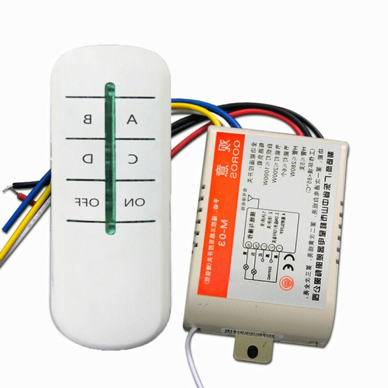 Wireless Transmitter Lamp Receiver Remote Light