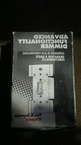 Pass & Seymour Toggle Dimmer 600W Incandescent-White-T600EW