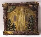 Pine Tree Double Light Switch Plate/Cover Rustic Home & Cabi