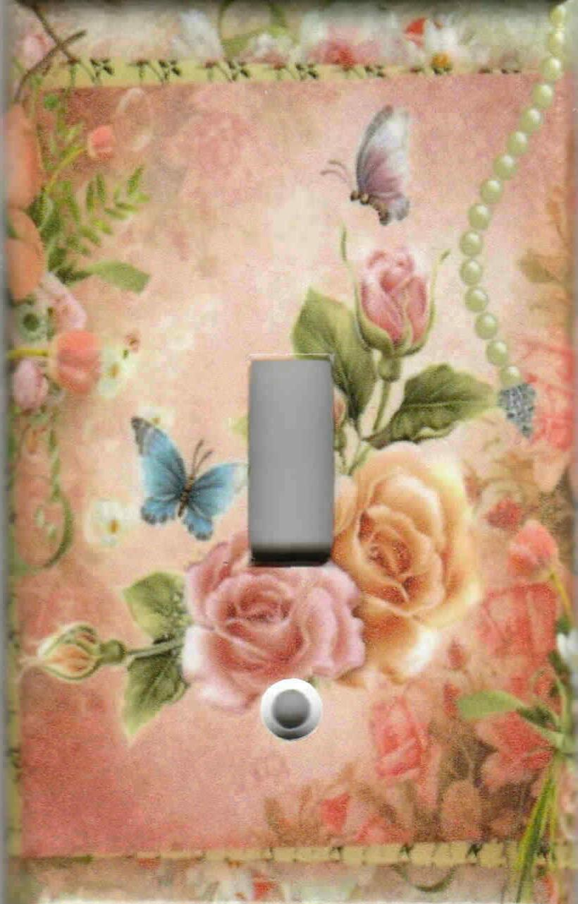 PINK AND SHABBY CHIC HOME LIGHT SWITCH AND OUTLETS