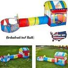 Playhouse Tent Set 3 Parts Ball Pit Tunnel Portable Outdoor