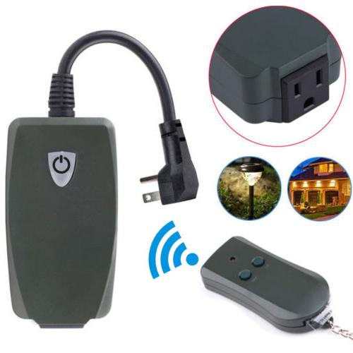 Plug Remote Control Outlet Wireless Power Electrical Light L
