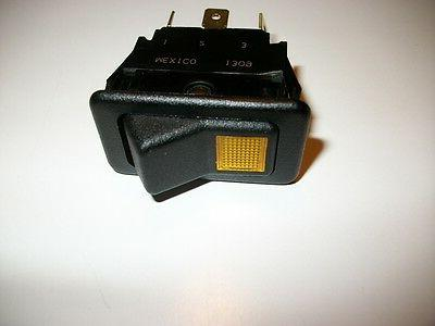 rocker switch 5 flat post with a