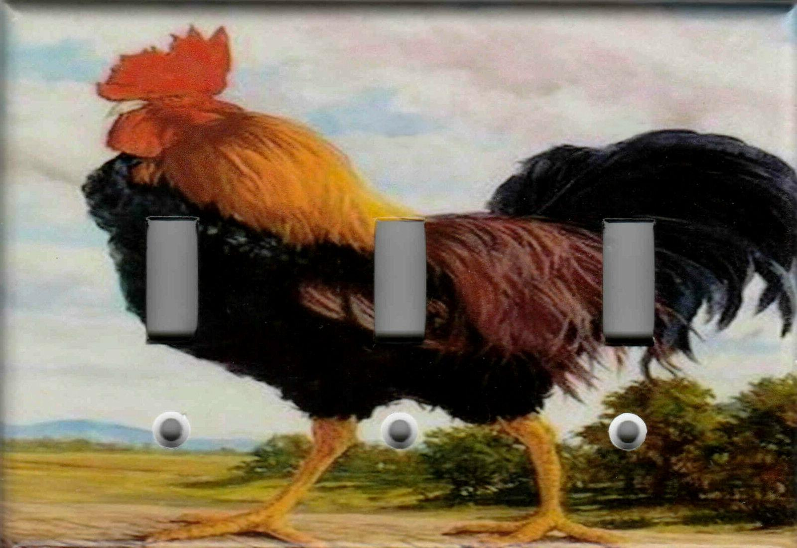 ROOSTER KITCHEN LIGHT SWITCH PLATES OUTLETS