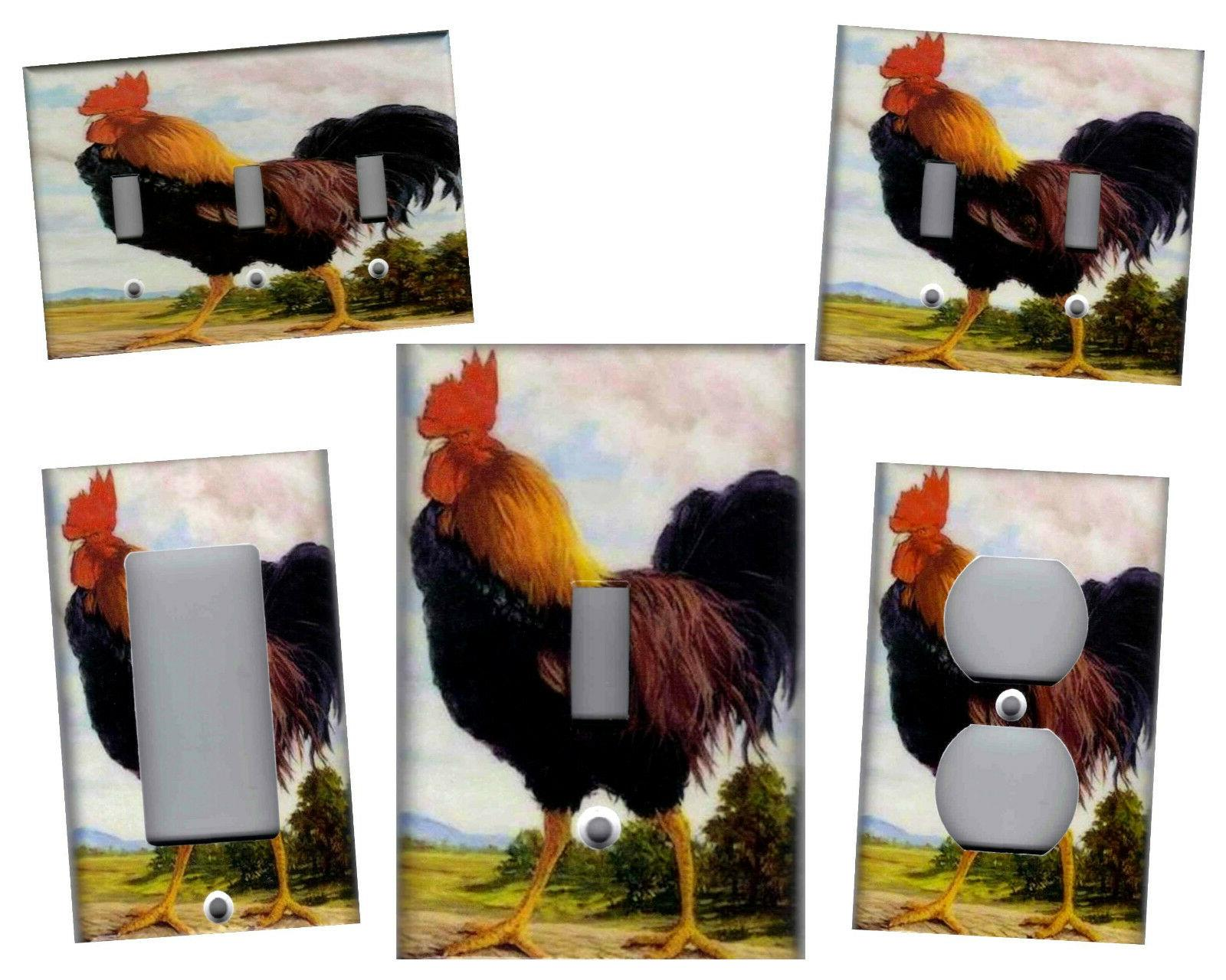 rooster kitchen home decor light switch plates