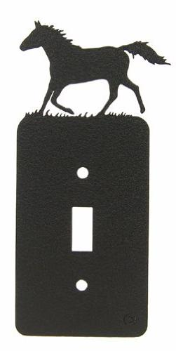 RUNNING Horse Single Light Switch Plate Cover