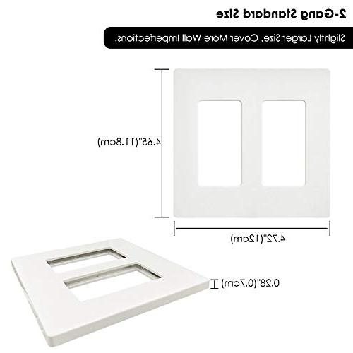 BESTTEN Plates, Series, Size for GFCI, and Switches, Safe, Unbreakable Listed, White
