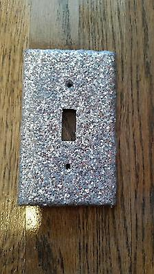 SILVER GLITTER LIGHT SWITCH PLATE COVER- MULTI OUTLETS