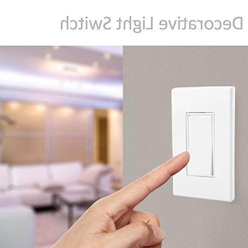 Single-Pole On/Off Light Switch, Wall Included, Grade, Grounding, White