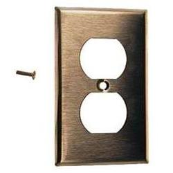 Leviton Single Gang Stainless Steel Duplex Receptacle Plate