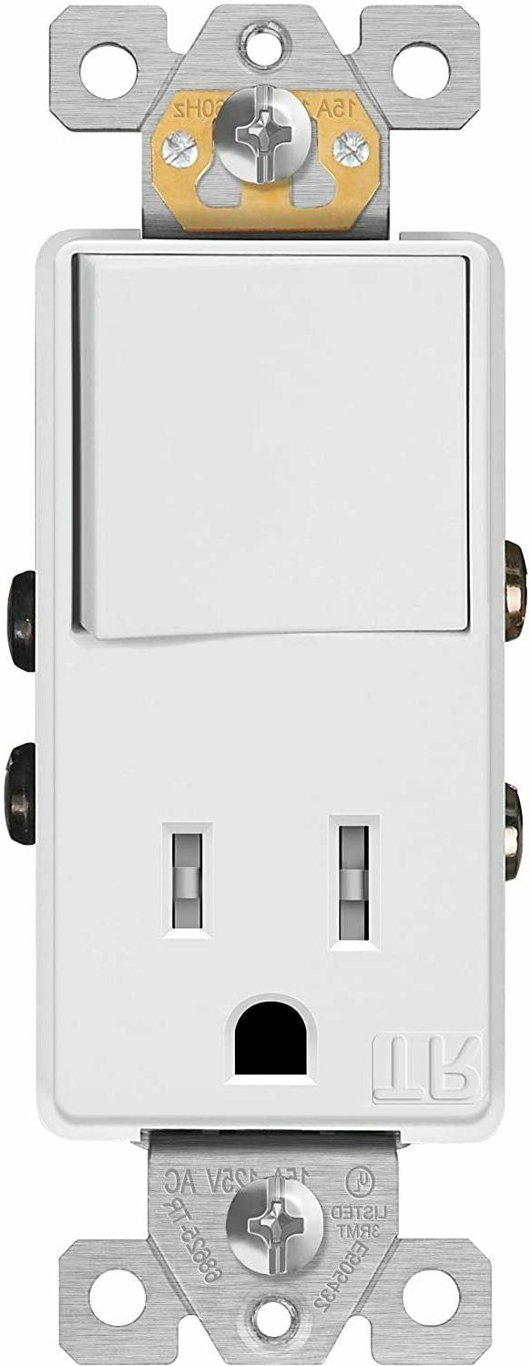 Single Pole Decorator Switch Outlet 15A Plug Light Switch Co