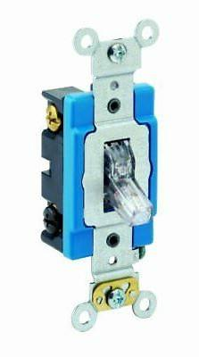 15 Amp Single-Pole Toggle Switch Industrial - Clear