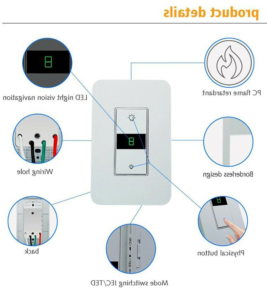 Smart Light Switch Control for Home USA