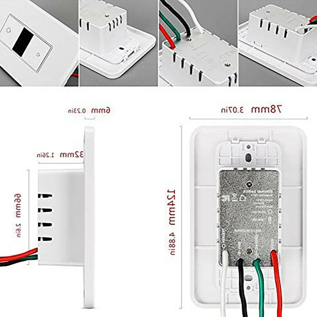 Smart Dimmer Light WiFi Control Home