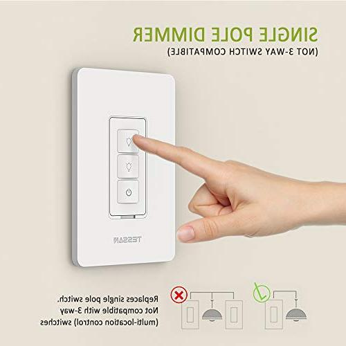 Smart Dimmer Dimmable Light Switch Works Alexa and Smart Wire Required