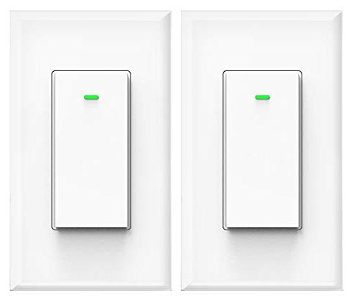 Smart Switch, Compatible with Alexa Home, No Hub Timing Suit 1/2/3/4 Gang Box Micmi