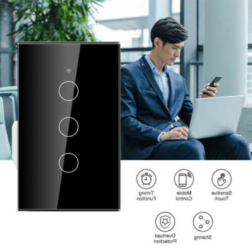 smart light switch home wifi touch wall