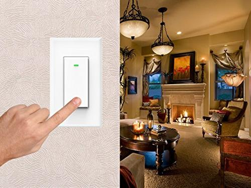 Smart Light Switch, with Home, Hub Timing Schedule, 1/2/3/4 Gang Switch Micmi