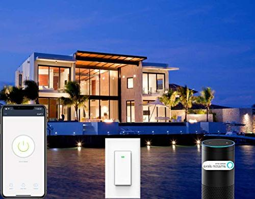 Smart Light with Home, No Hub Timing Schedule, 1/2/3/4 Gang Switch Micmi