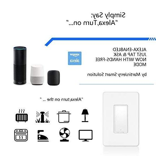 Smart Switch by Alexa, Smart Devices Works with Home, 2.4G Hub is required, Easy App and Voice